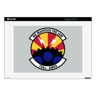 """755th Aircraft Maintenance Squadron Decal For 15"""" Laptop"""
