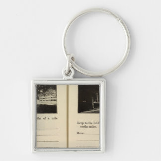75861 Rhinebeck Upper Red Hook Blue Store Silver-Colored Square Keychain