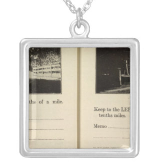 75861 Rhinebeck Upper Red Hook Blue Store Square Pendant Necklace