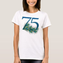 75 / 75th number birthday t-shirt