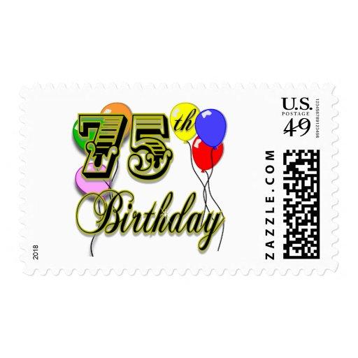 75.a celebración feliz del cumpleaños