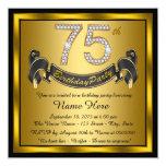75.a fiesta de cumpleaños del oro invitación
