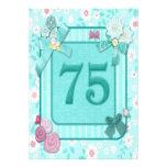 75.a invitación de la fiesta de cumpleaños