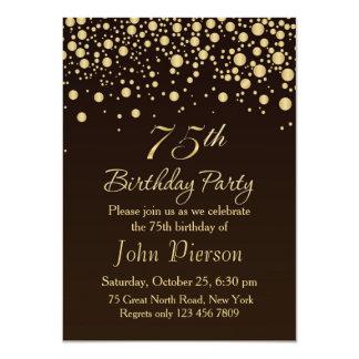 75.a invitación de la fiesta de cumpleaños del