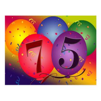 75.a invitación de la fiesta de cumpleaños postales