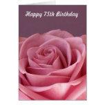 75.a tarjeta de cumpleaños color de rosa