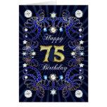 75.a tarjeta de cumpleaños con las masas de joyas
