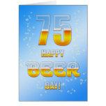 75.a tarjeta de cumpleaños del día feliz de la cer