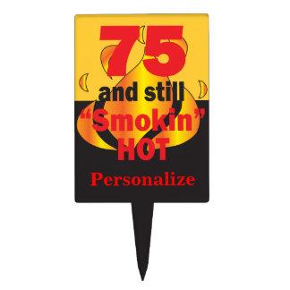 75 and Still Smokin Hot - 75th Birthday Cake Topper