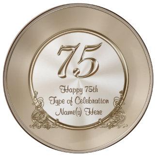 75.as ideas personalizadas del cumpleaños para la platos de cerámica