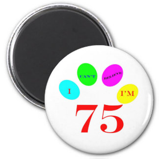 75 Balloons 2 Inch Round Magnet