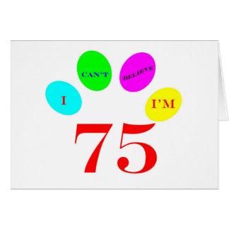 75 Balloons Card