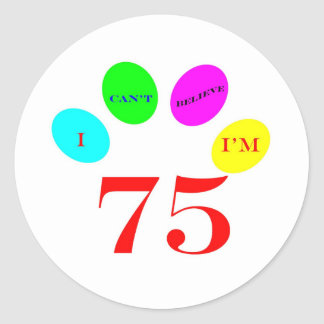 75 Balloons Classic Round Sticker