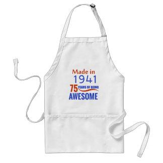 75 birthday design adult apron