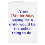 75 buy me a drink card