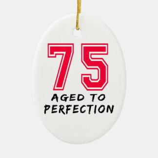 75 envejeció al diseño del cumpleaños de la perfec ornaments para arbol de navidad