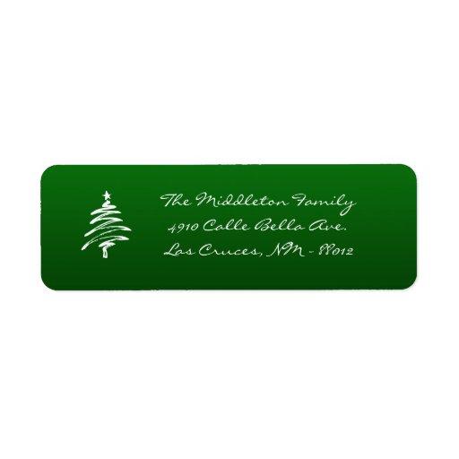 """.75"""""""" etiqueta de devolución verde del árbol de etiquetas de remite"""