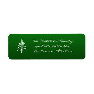 """.75"""""""" etiqueta de devolución verde del árbol de etiqueta de remite"""