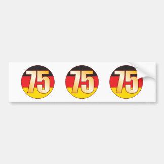 75 GERMANY Gold Bumper Sticker