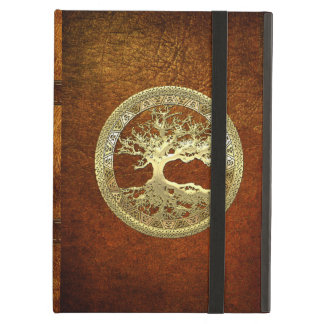 [75] Golden Celtic Tree of Life iPad Cover