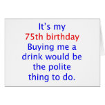 75 me compran una bebida felicitacion