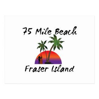 75 mile beach fraser island postcard