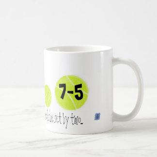 75...no need for a tie-break...by Lake Tennis Classic White Coffee Mug