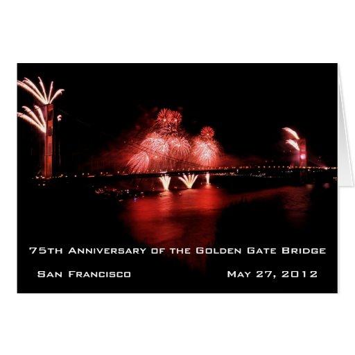 75.o Aniversario de puente Golden Gate Tarjeta De Felicitación