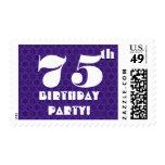 75.o Blanco púrpura intrépido grande W1239 de la f Envio
