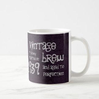 75.o Brew 1939 del vintage del cumpleaños o cualqu Tazas