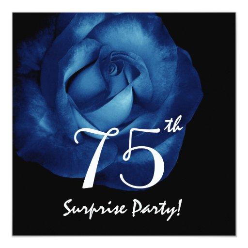 75.o Color de rosa elegante de la fiesta de Anuncio Personalizado