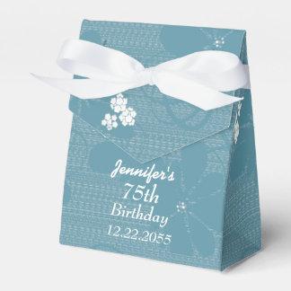 75.o Cumpleaños, caja personalizada del favor, Caja Para Regalo De Boda