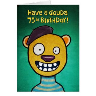 75.o cumpleaños divertido para ella tarjeta de felicitación