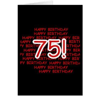 75.o cumpleaños feliz tarjeta de felicitación