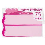 75.o cumpleaños feliz tarjeton