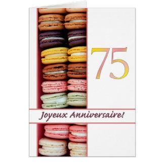 75.o ¡Cumpleaños francés Macaron-Joyeux Tarjetón