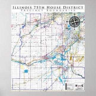 75.o Distrito de la casa de Illinois - línea detal Impresiones