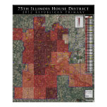 75.o Distrito de la casa de Illinois - representan Poster