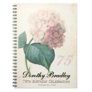 75.o Fiesta de cumpleaños - libro de visitas del Cuaderno