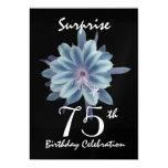 75.o Flor azul suave de la fiesta de cumpleaños de Comunicados Personales
