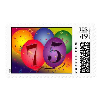 75.o Franqueo del globo del cumpleaños Estampillas