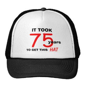 75.o Gorra de los regalos de la mordaza del cumple