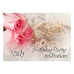 75.o Invitación de la fiesta de cumpleaños
