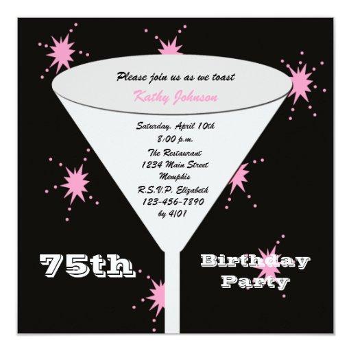 75.o Invitación de la fiesta de cumpleaños --