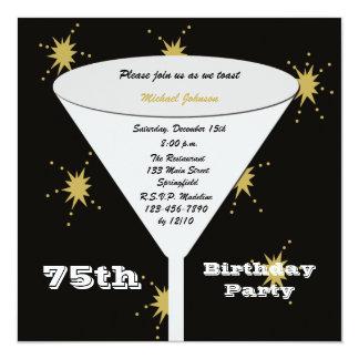 75.o Invitación de la fiesta de cumpleaños -- Invitación 13,3 Cm X 13,3cm
