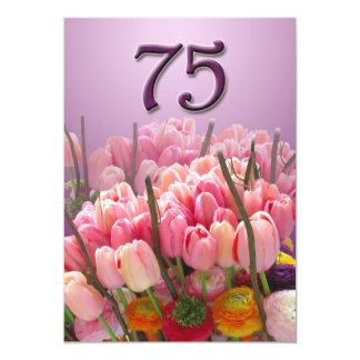 75.o Invitación de la fiesta de cumpleaños - Invitación 12,7 X 17,8 Cm