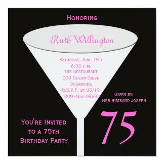 75.o Invitación de la fiesta de cumpleaños -- 75.o Invitación 13,3 Cm X 13,3cm