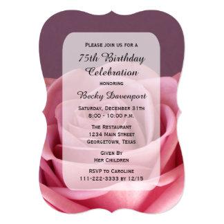 75.o Invitación de la fiesta de cumpleaños con Invitación 12,7 X 17,8 Cm