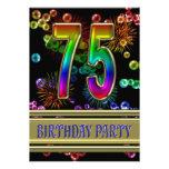75.o Invitación de la fiesta de cumpleaños con las