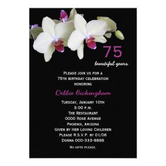 75 o Invitación de la fiesta de cumpleaños -- Orqu